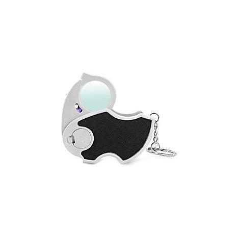 Лупа ювелирная 45х-25мм складная с подсветкой + ультрафиолет (2 LED) Kromatech MG7101